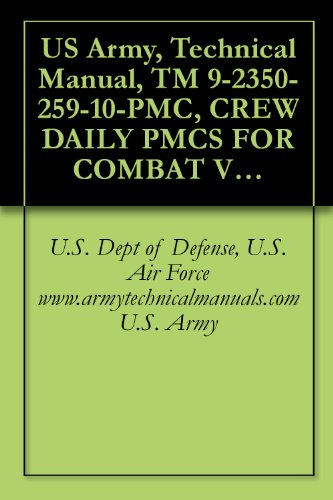 US Army, Technical Manual, TM 9-2350-259-10-PMC, CREW DAILY PMCS FOR COMBAT VEHICLE, ANTI-TANK IMPROVED TOW VEHI N901A1, (2350-01-103-5641), military manauals, ... military manuals on cd, (English Edition)