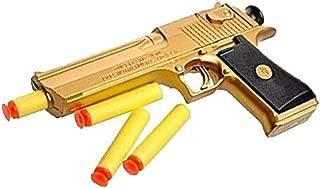 JINFYUAN Golden Desert Eagle Toy Foam Dart Gun Toys The for Children