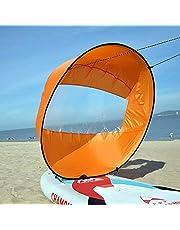 Lixada Opvouwbare kajakboot, windzeil, ultralicht, zomer-surf-windpeddelzeil, duurzame downwind-peddel, roeiboten, wind, helder venster