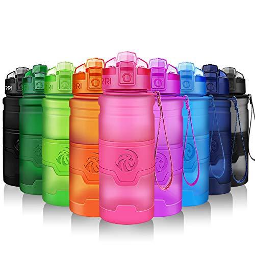 ZORRI Sport Wasserflasche-Trinkflasche Bpa Frei Sportflasche, Rosa, Gr.- 1000ml-32oz