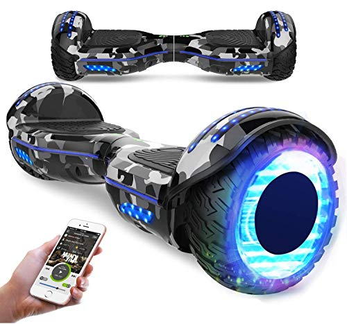 RCB Scooter Elettrico da 6,5 Pollici con LED Bluetooth su Ruote Brillante...
