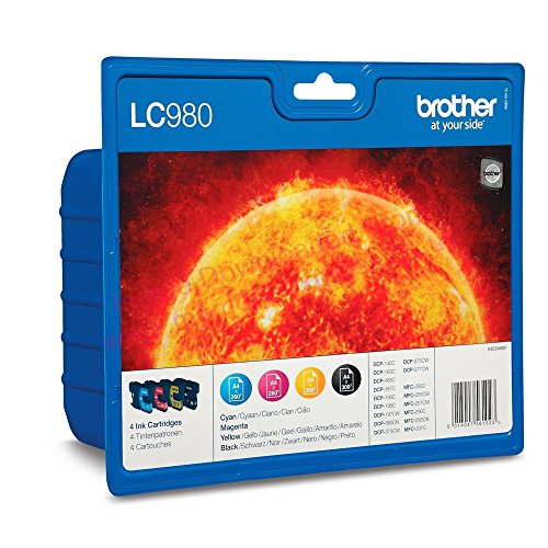 Brother LC-980C DCP-165C - Cartucho Original de Tinta
