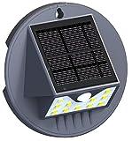 Solar Motion Sensor Wall Light con atmosfera verde paesaggio LED, luce di sicurezza ad energia solare, luci da esterni per giardino, terrazze, passi, recinto, patio, impermeabile e 11LED
