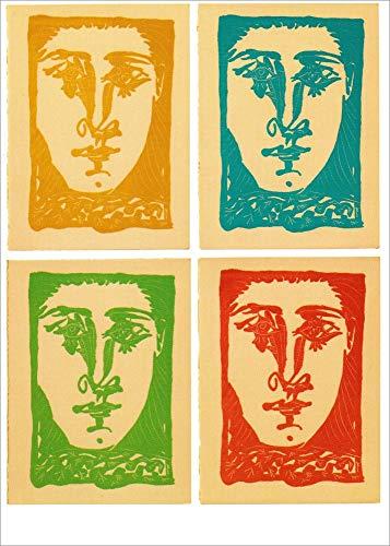 """Kunstkarte Pablo Picasso""""Gesichter"""""""