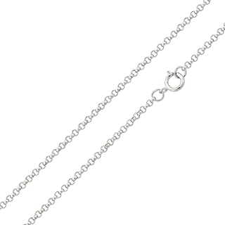 Princess Kylie Rhodium Plated Sterling Silver Design Miami Curb Chain Link 1.8mm