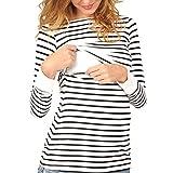 Top de Maternité, Covermason T-Shirt de Grossesse Haut d'allaitement Brassière Maternité Tee- Femme à Manches Longues Tee...