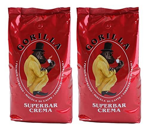 2x Espresso Gorilla 1.000g Super Bar Crema