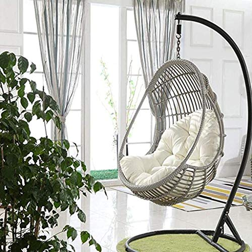 Swing Hanging Basket Seat Cushion, Waterproof Thicken Hanging Egg Hammock Chair Pads For Patio Garden, Multi Color For Choose 90x120cm (Color : G)