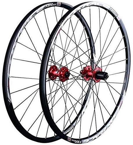 26 27.5 29 Pulgadas Rueda Bici de Doble Pared for MTB de Ruedas Delantera y Trasera Llantas de Aluminio 6 Palin cojinete del Freno de Disco QR 1700g Rueda de Bicicleta 24H 7-11 Velocidad Cassette
