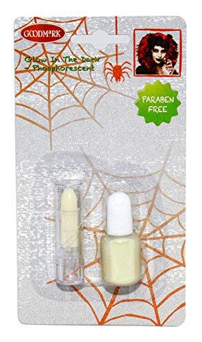 Generique - Vernis à Ongles et Rouge à lèvres fluorescents Adulte Halloween