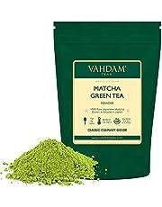 VAHDAM, polvo de té verde Matcha (50 g, 25 tazas), polvo de Matcha japonés puro y sin mezclar 100% certificado | 137x Anti-OXIDANTES | Aumenta la energía, el enfoque y el metabolismo.