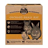Oxbow Animal Health Orchard Grass Hay - All Natural Grass Hay for Chinchillas, Rabbits, Guinea Pigs, Hamsters & Gerbils - 9 lb.