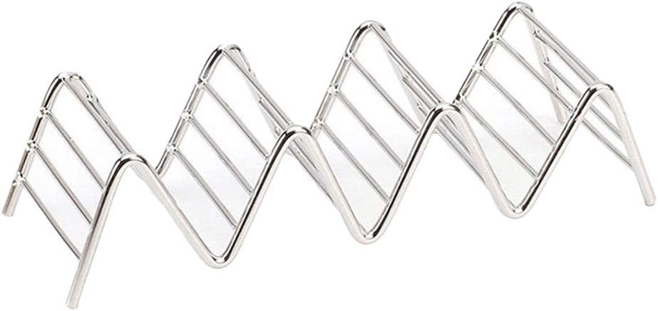 Taco Holder Stainless Steel Taco Stand Mexican Food Rack Shells 1-4 SlotKRFS