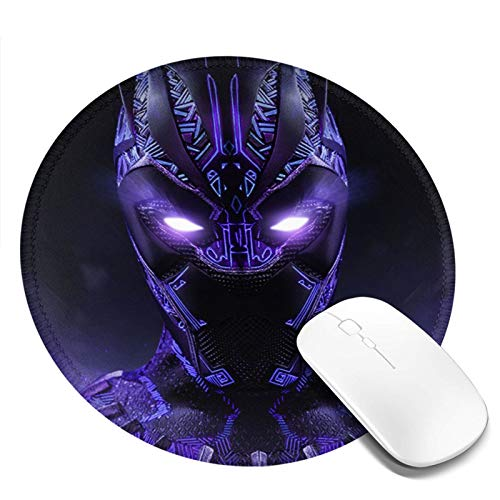 Game Mouse pad, Computer Mouse pad, Smooth Surface, Non-Slip Base, 20x20 cm (Black-Panther)
