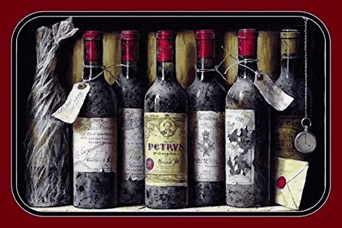 FS oude rode wijn flessen in rek blikken bord gebogen Metal Sign 20 x 30 cm
