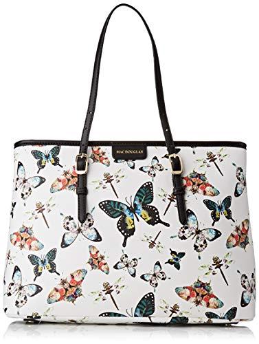 Mac Douglas Everton Paloma M, Damen Schultertasche, Weiß (Butterfly Blanc), 15x26x35 cm (W x H L)