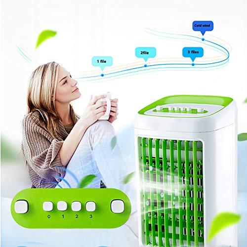 Persönlicher Luftkühler, tragbarer Klimaanlagenlüfter, 3-Lüfterdrehzahl, Timer, superleise Klimaanlage für Heim und Büro