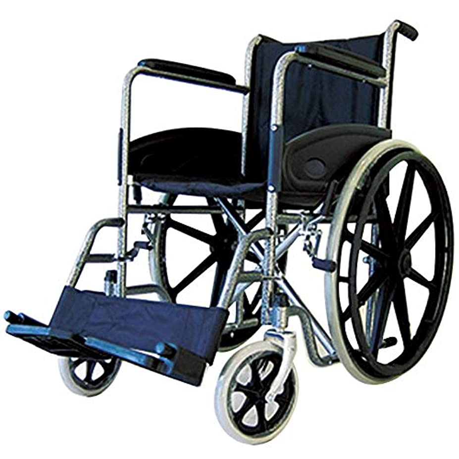 効果有料厚くする自走式 スチール製車椅子 樹脂ホイール コンドル A301-SJ カドクラ