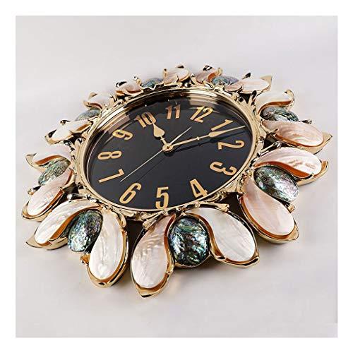Relojes de pared Sala de estar de pared reloj decoración europeo de lujo reloj de pared hogar dormitorio reloj de pared reloj de cáscara de lujo grandes números Relojes para la decoración de la sala d