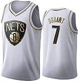 llp Jersey de Baloncesto sin Mangas para Hombres, Nets # 7 Jersey de Baloncesto Durant, Camiseta Unisex Camiseta Transpirable Sudadera. (Color : White, Size : Large)