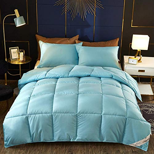 CHOU DAN ,Duvet 95 white goose down single double quilt core student dormitory quilt winter quilt clearance winter-200x230cm 4000g_Light blue