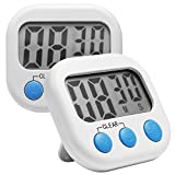Digital Kitchen Timer, 2 Pack Comsun Cooking Timer Magnetic Loud Timer with St