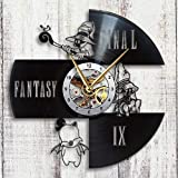Taniastore Final Fantasy IX Design Vinyl Record Wall Clock Unique gifts for him her Gift Ideas for birthday anniversary wedding cute and original gifts for everybody