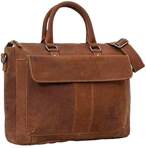 """Gusti Stabile Notebooktasche Leder Studio """"Porter"""" elegante Businesstasche größe 15,4"""