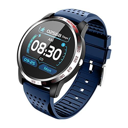 Reloj inteligente hombres mujeres,Fitness Smartwatch con pantalla táctil de 1.3 'con ECG, oxígeno en sangre, frecuencia cardíaca, monitor de sueño, rastreador de actividad a prueba de agua IP67