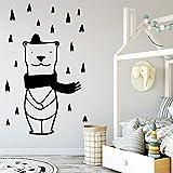 Tianpengyuanshuai Bear Wallpaper Familia decoración Etiqueta de la Pared decoración de la habitación de los niños calcomanía 36X105cm