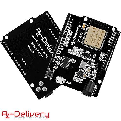 AZDelivery 3 x ESP32 NodeMCU D1 R32 Wlan Entwicklungsboard mit CH340G und WiFi + Bluetooth IoT mit Mikro USB kompatibel mit Arduino