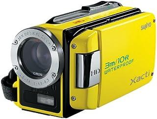 Sanyo Xacti VPC WH1EX HD Camcorder (SD/SDHC Card, 30 Fach Opt. Zoom, 2 Megapixel, 6,4 cm (2,5 Zoll) Display, bis zu 3m wasserdicht) gelb