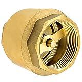 Válvula de retención de 1/2 pulgada de alta calidad fabricada en latón macizo robusto, inoxidable e impermeable para bomba de aqua, pozo, lavadora, filtro, manometro, barril, antirretorno