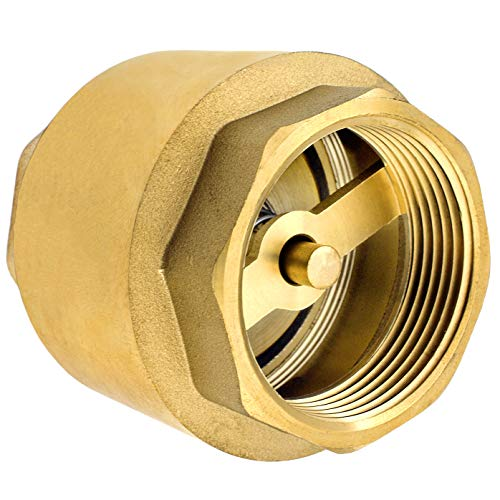 Premium 1 Zoll Rückschlagventil aus hochwertigem Messing robust, rostfrei und wasserdicht für Pumpe, Brunnen, Waschmaschine, Garten, Regentonne, Fass