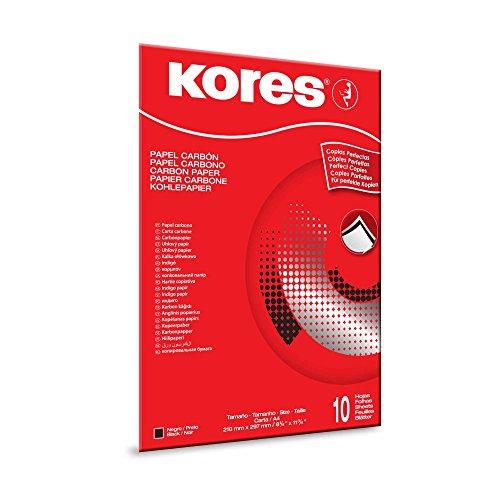 Kores Kohlepapier 1200, Din A4, 10 Blatt, schwarz