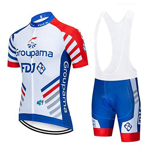 Hombres de Bicicleta con 5D Gel Acolchado MTB Ciclismo Tirantes Culotte Pantalones+Maillot...