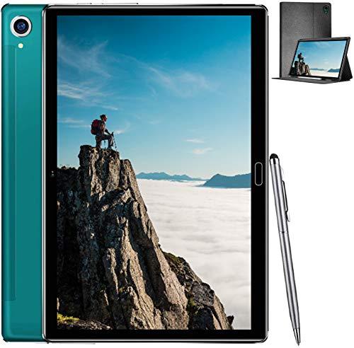 Tablet de 10,8 Pulgadas con procesador Ten-Core 2,3 GHz, Duoduogo M8 Tablet PC 4 GB RAM + 64 GB ROM, Android 10.0, Face ID, HD Display Batería 8000 mAh, Cámara 16 MP + 8 MP, WiFi, Verde