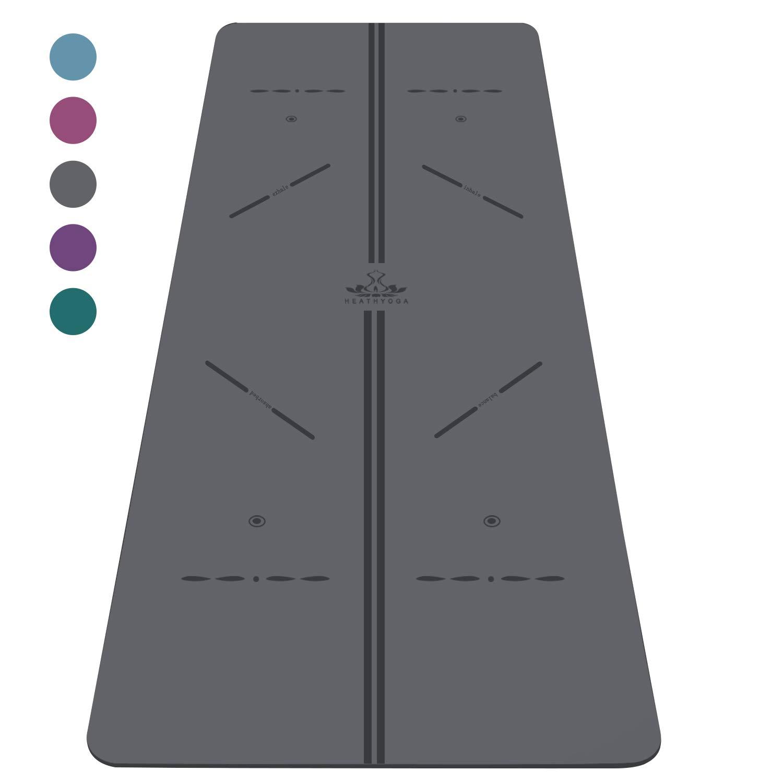 Heathyoga Alignment Revolutionary Wet Grip Grey Black