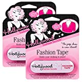 Hollywood Fashion Secrets Medical Quality Double-Stick Fashion Tape, 36 strips, Tin, 1-Pack (Health and Beauty)
