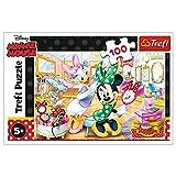 Trefl, Puzzle, Minnie im Kosmetikstudio, 100 Teile, Disney, für Kinder ab 5 Jahren