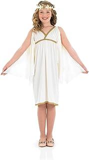 Kids Ancient Greek Goddess Costume Girls Roman Toga Dress
