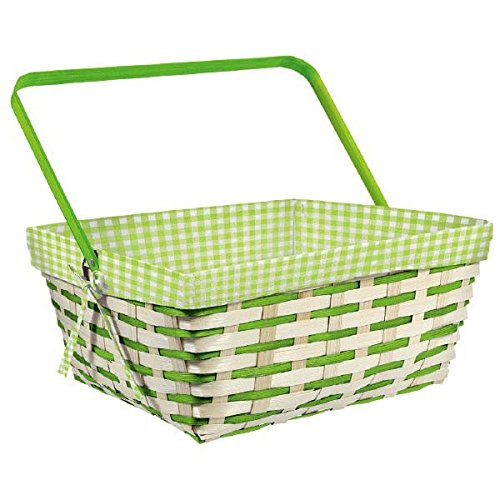 Amscan International 130117 containerbskt bamboe Gingham