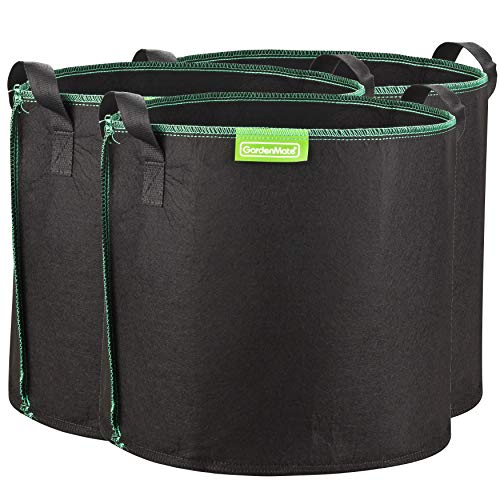 GardenMate 3-Pack 30 litres/8 gallons soft-sided plant pots – Grow bags with soft felt-like texture that promote air root pruning - GREENLINE