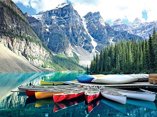 1000 Piece Jigsaw Puzzles for Adults - 1000 Piece Puzzle Moraine Lake National Park Jigsaw Puzzles 1000 Piece