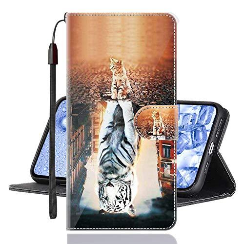 Sinyunron Klapphülle für Handy Xiaomi Mi Mix 3 5G Hülle Leder Brieftasche Handytasche,Klapptasche Lederhülle Hüllen Hülle Schutzhülle Tasche Cover (Hülle-03B)