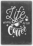 Jotora Life Begings - Pintura de lata para café, letrero de hierro, arte de pared, nostálgico, creativo, regalo, pintura decorativa, personalizada, minimalista, cartel, tendencia retro