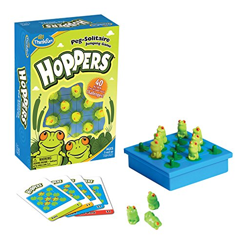 Ravensburger ThinkFun Hoppers–peg Solitaire Game [Versione Inglese]