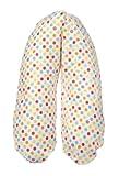 Flexofill 2008-2-536 Midi - Cubierta para una cojín de lactancia (170 x 34 cm), diseño de lunares, multicolor