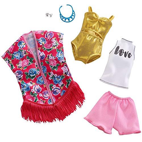 Barbie Beach Chic | 2 Moda Set Mattel FXJ62 | Ropa de la Muñeca