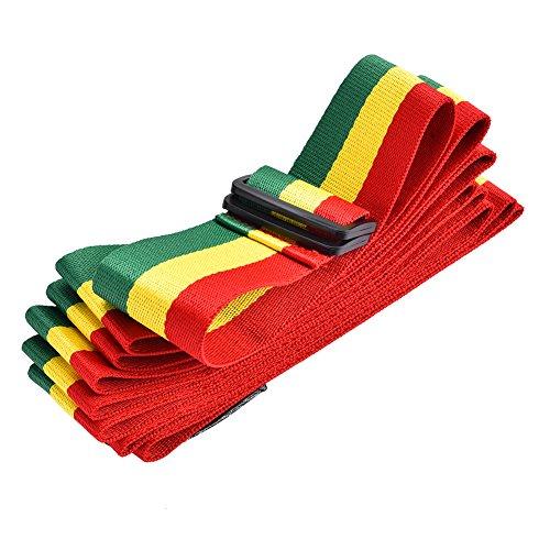 Alomejor Djembe Strap, Tricolor Tragbarer Afrikanischer Handtrommel-Schultergurt Verstellbarer Trommel-Baumwollgurt für Bühnenperformance